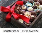 a lot of variety chocolate... | Shutterstock . vector #1041560422