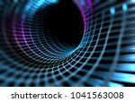 abstract tunnel and wave... | Shutterstock . vector #1041563008