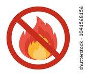 no fire sigh. flat vector...   Shutterstock .eps vector #1041568156