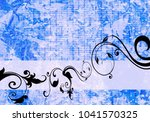 floral background design | Shutterstock . vector #1041570325