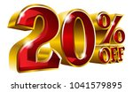20  off   twenty percent off... | Shutterstock .eps vector #1041579895