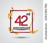 42nd anniversary design with... | Shutterstock .eps vector #1041581782