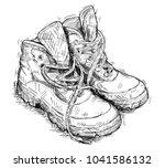 vector artistic pen and ink...   Shutterstock .eps vector #1041586132