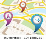 set of tourism services map...   Shutterstock .eps vector #1041588292