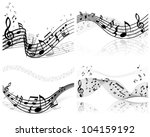 musical notes staff background... | Shutterstock . vector #104159192