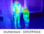 blurred thermographic image of... | Shutterstock . vector #1041594316