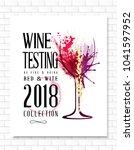 wine list template for bar or... | Shutterstock .eps vector #1041597952