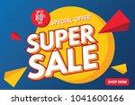 super sale banner template.... | Shutterstock .eps vector #1041600166