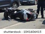car crash collision accident... | Shutterstock . vector #1041606415