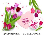 tulips holiday mothers day | Shutterstock .eps vector #1041609916