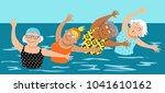 group of mature women doing... | Shutterstock .eps vector #1041610162