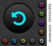 undo changes dark push buttons...   Shutterstock .eps vector #1041621856