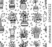 seamless pattern with different ... | Shutterstock .eps vector #1041623212