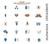 human resources icons   human... | Shutterstock .eps vector #1041628645