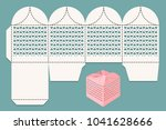 cutout box. scan layout for... | Shutterstock .eps vector #1041628666