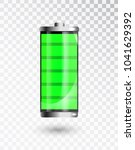 charged battery. full charge... | Shutterstock .eps vector #1041629392