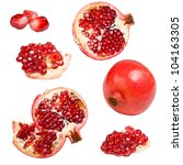 collection of pomegranates... | Shutterstock . vector #104163305