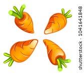 four carrots cartoon...   Shutterstock .eps vector #1041641848