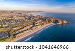 Small photo of Aerial view of California coast and Dana Point harbor in Orange County on a sunny day.