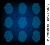 closeup of colorful fingerprint ... | Shutterstock .eps vector #1041673648