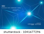 abstract vector space blue... | Shutterstock .eps vector #1041677296