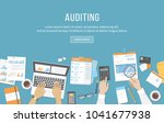 accounting  business meeting ... | Shutterstock .eps vector #1041677938