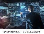 convenient screen. calm clever... | Shutterstock . vector #1041678595