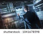 new data. calm confident young...   Shutterstock . vector #1041678598