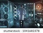 genetic research. smart... | Shutterstock . vector #1041682378