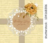 vintage postcard with flowers... | Shutterstock .eps vector #104168306