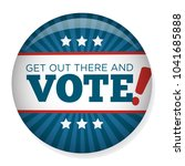 2020 campaign election pin... | Shutterstock .eps vector #1041685888