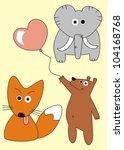 animal set vector | Shutterstock .eps vector #104168768