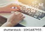 email marketing and newsletter... | Shutterstock . vector #1041687955