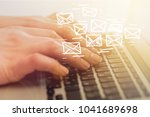 email marketing and newsletter... | Shutterstock . vector #1041689698