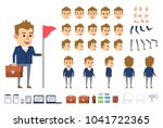 businessman character creation... | Shutterstock .eps vector #1041722365