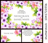 invitation with floral... | Shutterstock .eps vector #1041723556