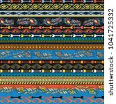 embroidery colorful simplified... | Shutterstock .eps vector #1041725332