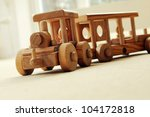 Handcrafted Wooden Train On An...