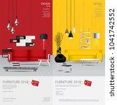 2 vertical banner furniture... | Shutterstock .eps vector #1041742552