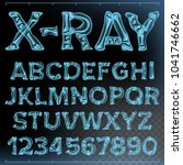x ray font. transparent... | Shutterstock . vector #1041746662