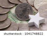 a quarter of ohio  quarters of... | Shutterstock . vector #1041748822