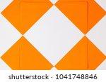 pattern from orange envelopes...   Shutterstock . vector #1041748846