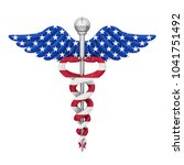 caduceus with united states... | Shutterstock . vector #1041751492