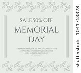 memorial day vintage banner on... | Shutterstock .eps vector #1041753328