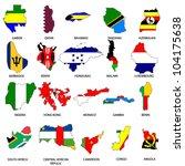 world flags   map pack 7   Shutterstock .eps vector #104175638