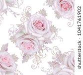 seamless pattern. decorative... | Shutterstock . vector #1041761902