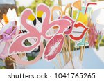 props to take pictures at the...   Shutterstock . vector #1041765265