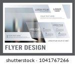 minimal flyer design template.... | Shutterstock .eps vector #1041767266