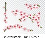 apricot blossom branches set... | Shutterstock .eps vector #1041769252