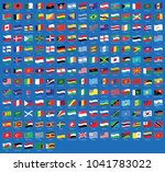 all national waving flags from... | Shutterstock .eps vector #1041783022
